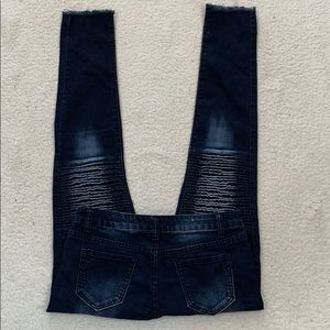 #VIP Jeans Dark Wash Frayed Hem Jeans  Size 14